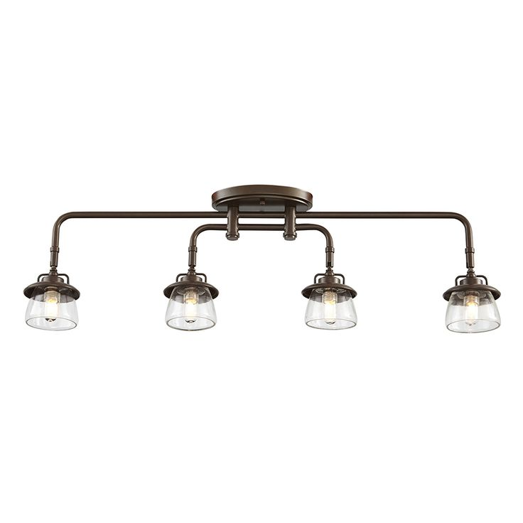 Shop allen + roth Bristow 4-Light Specialty Bronze Dimmable Fixed Track Lighting Kit at Lowes.com