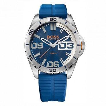 1513286 HUGO BOSS ORANGE Ανδρικό σπορ fashion quartz ρολόι HUGO BOSS Berlin με μπλε καντράν & μπλε καουτσούκ | Ρολόγια ΤΣΑΛΔΑΡΗΣ στο Χαλάνδρι #Boss #berlin #σιλικονη #ανδρικο #ρολοι