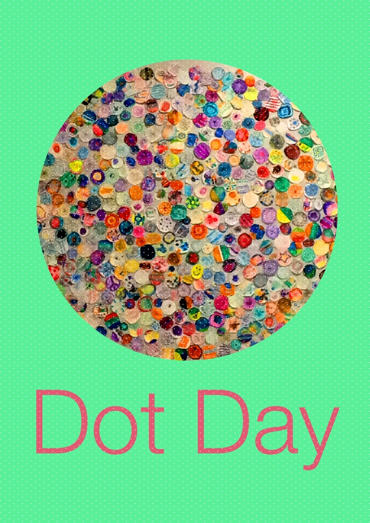 School wide lesson on illustrator Peter H. Reynold's , The Dot book.  Watercolor paper, markers/with water.