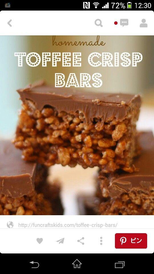Toffee crisp bars