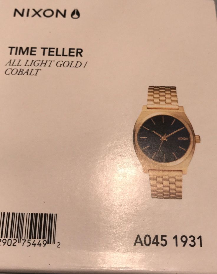 Other Mens Jewelry 177770: New Authentic Nixon Watch A0451931 Time Teller Blue Analog Dial Gold Steel Band -> BUY IT NOW ONLY: $88.89 on eBay!