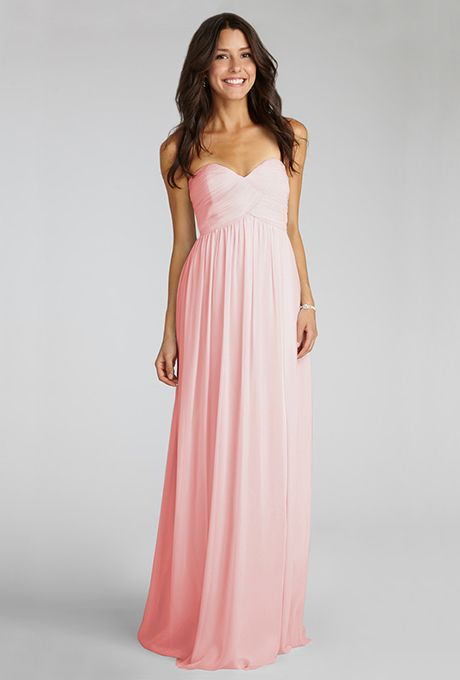 "Brides: Donna Morgan. ""Laura"" blush bridesmaid dress, $230, Donna Morgan"