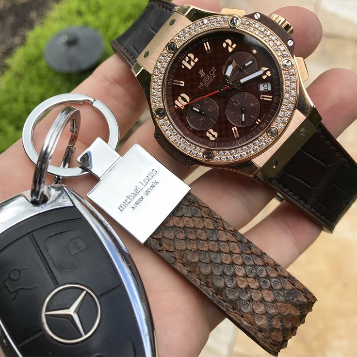 Hublot x Mercedes x Michael Louis #ClassicKeyHolder in Brown Python   Now available - www.MichaelLouis.com   Classic Key Holder   #MichaelLouis