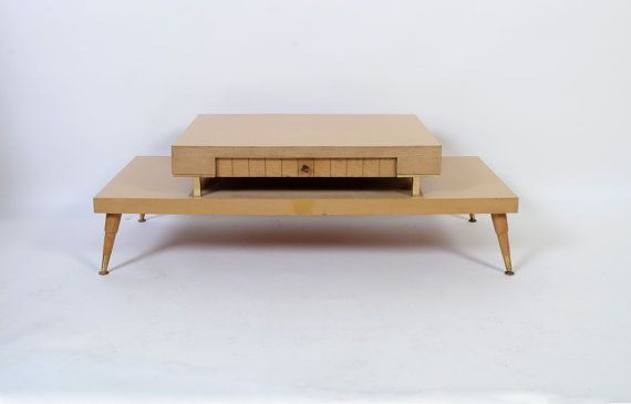 Kaffee Mit Milch Table Vintage 1950s Coffee Mid Century Formica Wood Split Level Tablr Déco Pinterest And Woods