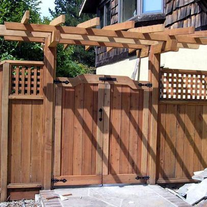 Japanese Garden Fence Design outdoor traditional japanese fence design with concrete pathway for chic home ideas natural japanese Japanese Gate Plans Landscape Design Ideas Pictures Remodels And Decor