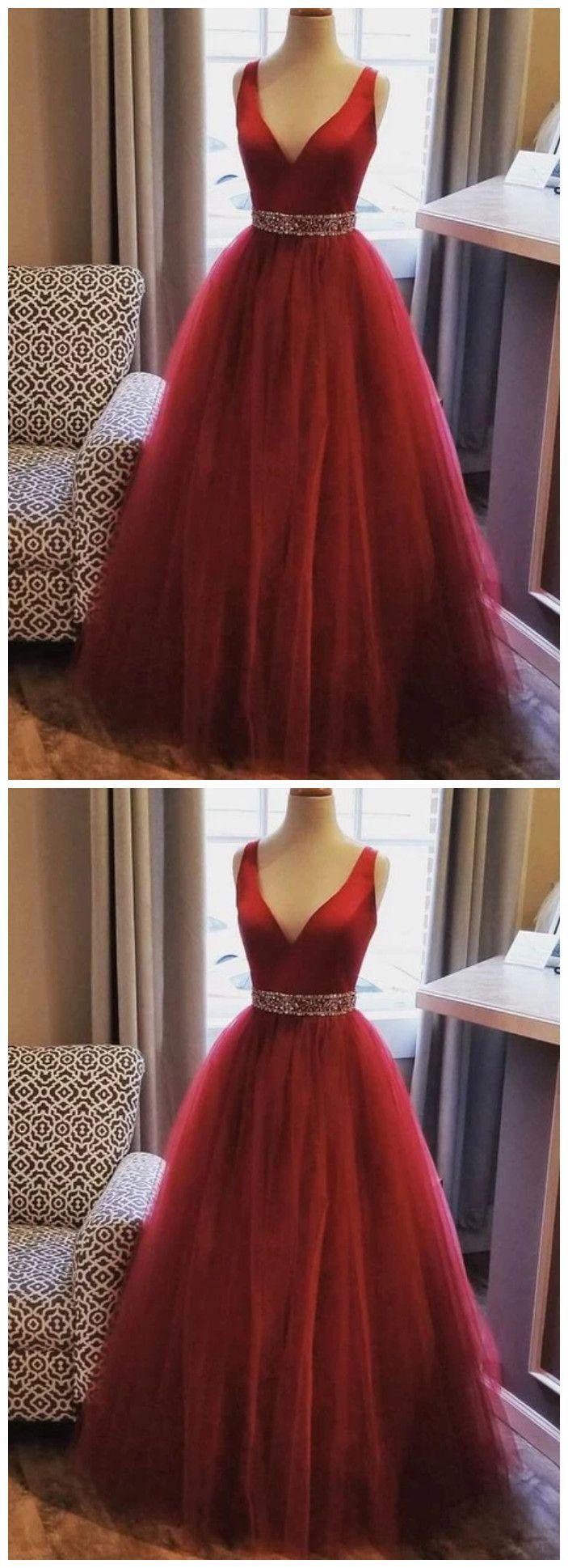 Gorgeous V Neck Wine Red Long Prom Dress Evening Gowns Prom Dresses Evening Dresses Prom Long Prom Dress [ 1938 x 703 Pixel ]