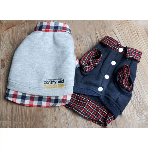 Dog Grid Sweatshirt Puppy Lapel Coat T Shirt Clothes POLO Top Pet Apparel XS XL For Free Shipping-in Dog Clothing from Home & Garden on Aliexpress.com | Alibaba Group