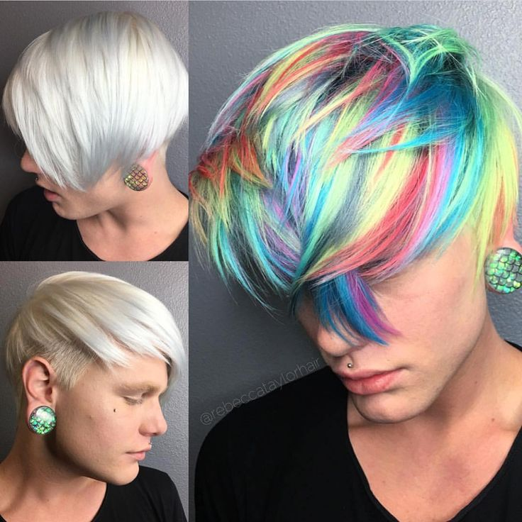 Rainbow Hair color for men