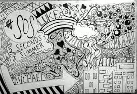 5 seconds of summer drawings - Google Search love this so much