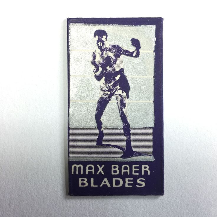 RARE 1934 World Champion Max Baer Razor Blade MINT Wrapper Boxer Boxing  | eBay