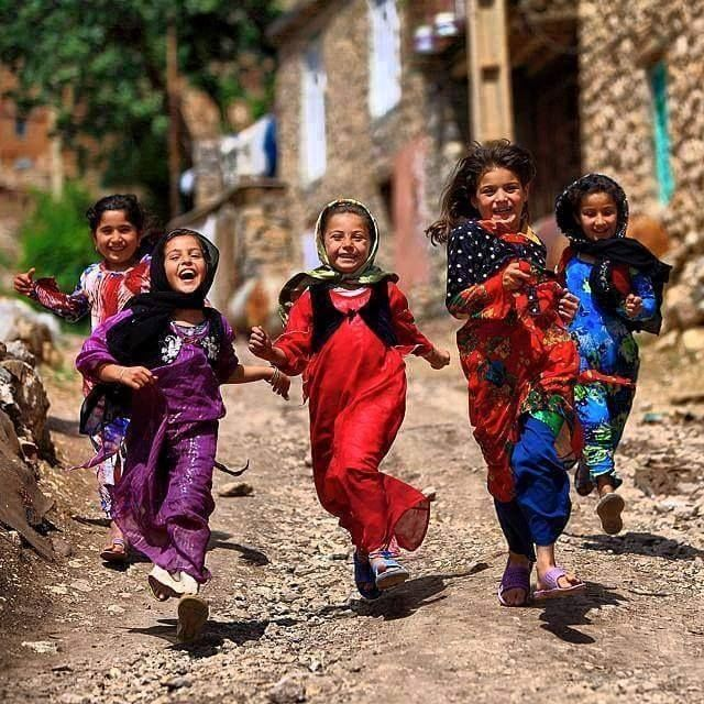 Happy Kurdish Girls from the Province Kurdistan, Iran.