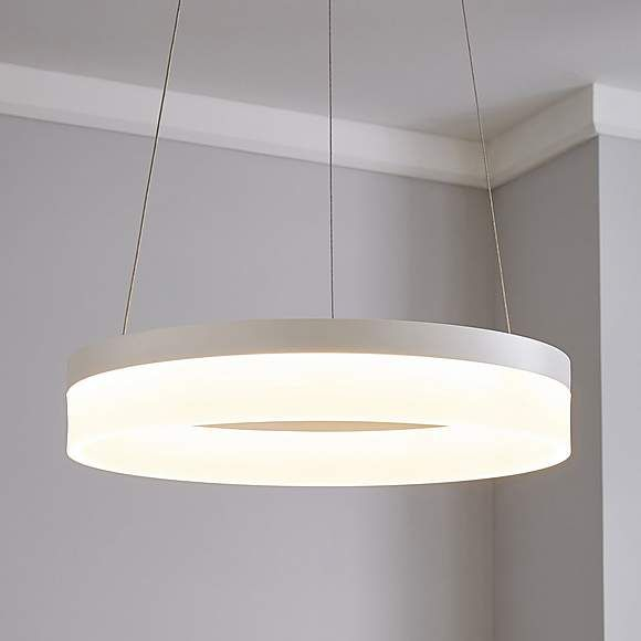 Mickie Integrated Led White Hoop Fitting Ceiling Lights Flush Lighting Light Fittings