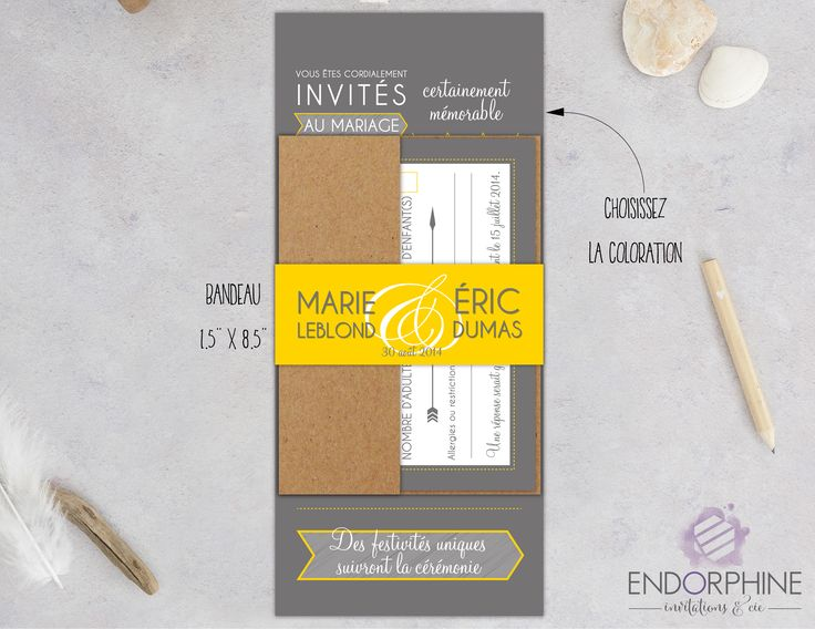 Invitation moderne Endorphine, version imprimable
