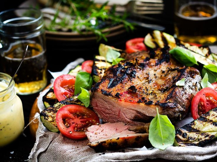Recipe: Barbecue Lamb with Tomatoes and Courgettes - Tasty barbecued lamb, perfect for summery nights