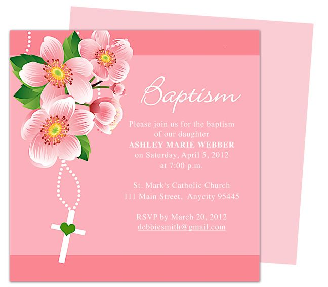 8 best Christening Invitations images on Pinterest Christening - sample baptismal invitation for twins