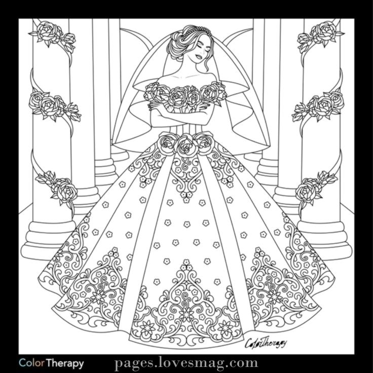 Breathtaking Marriage Ceremony Coloring Web Page Wedding Coloring Pages Coloring Pages For Girls Coloring Pages To Print