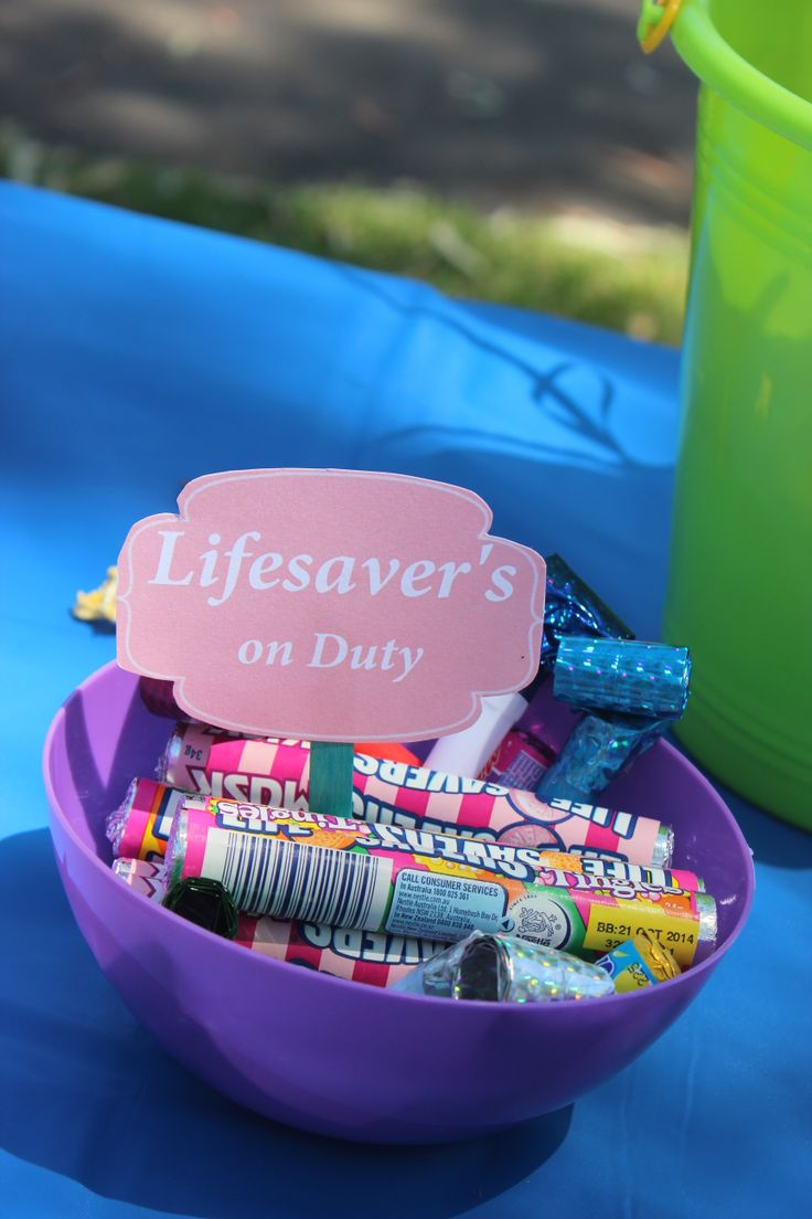 Play on words with different types of Lifesavers in a bowl