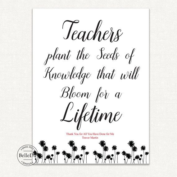 Diy Printable Teachers Gift Last Minute Teachers Gift Teachers