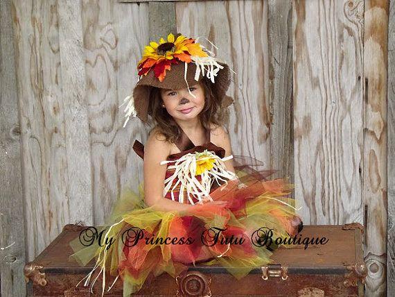 Scarecrow Tutu Costume Halloween Costume by MyPrincessTutuBoutiq, $85.00