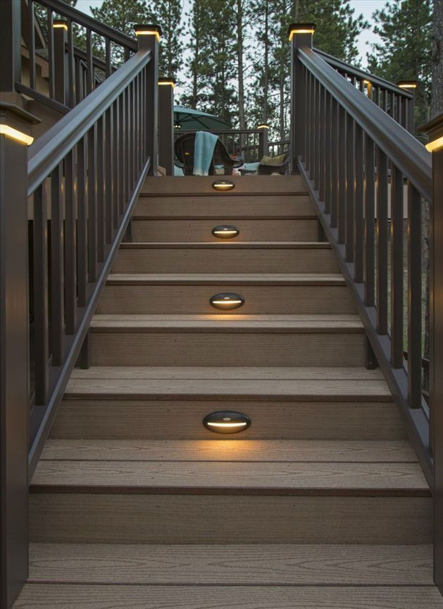 Lighting Basement Washroom Stairs: Best 20+ Outdoor Stair Railing Ideas On Pinterest