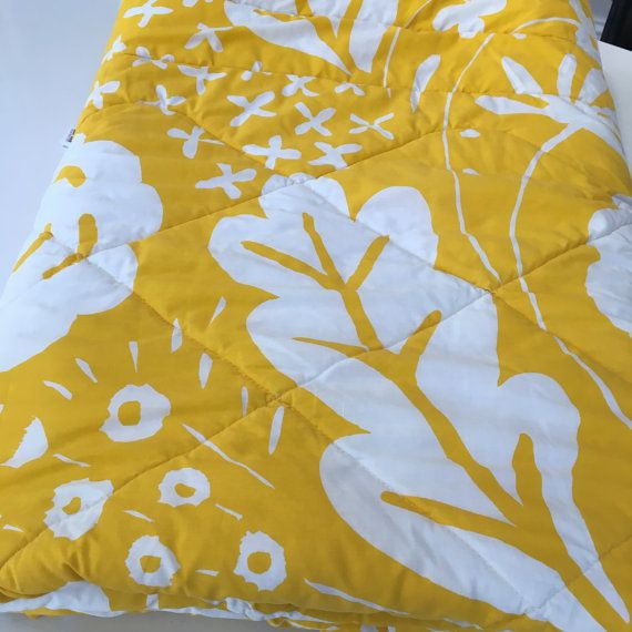 1970's MaRiMeKKo oY SuNNy YeLLoW Comforter Quilted by mightyMODERN