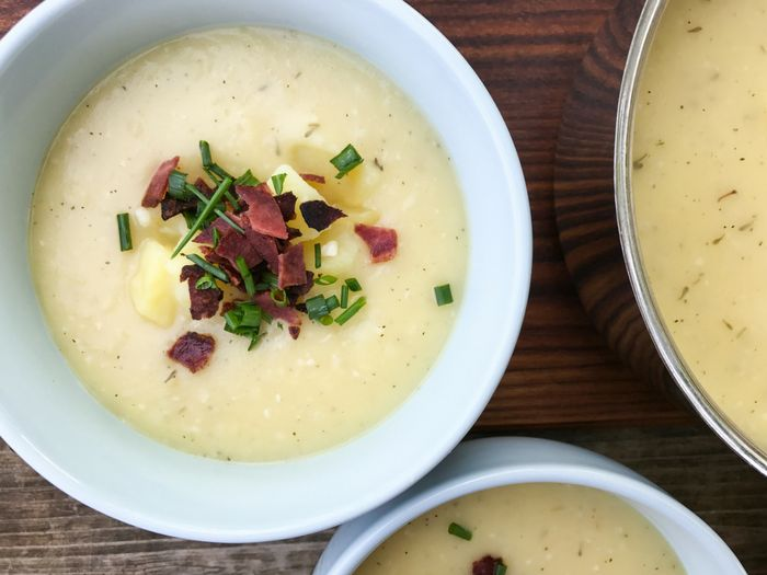 This 30 Minute Dairy Free Loaded Potato Soup is proof that you don't need milk or cheese to create a creamy satisfying soup. So rich & ready in 30 minutes!