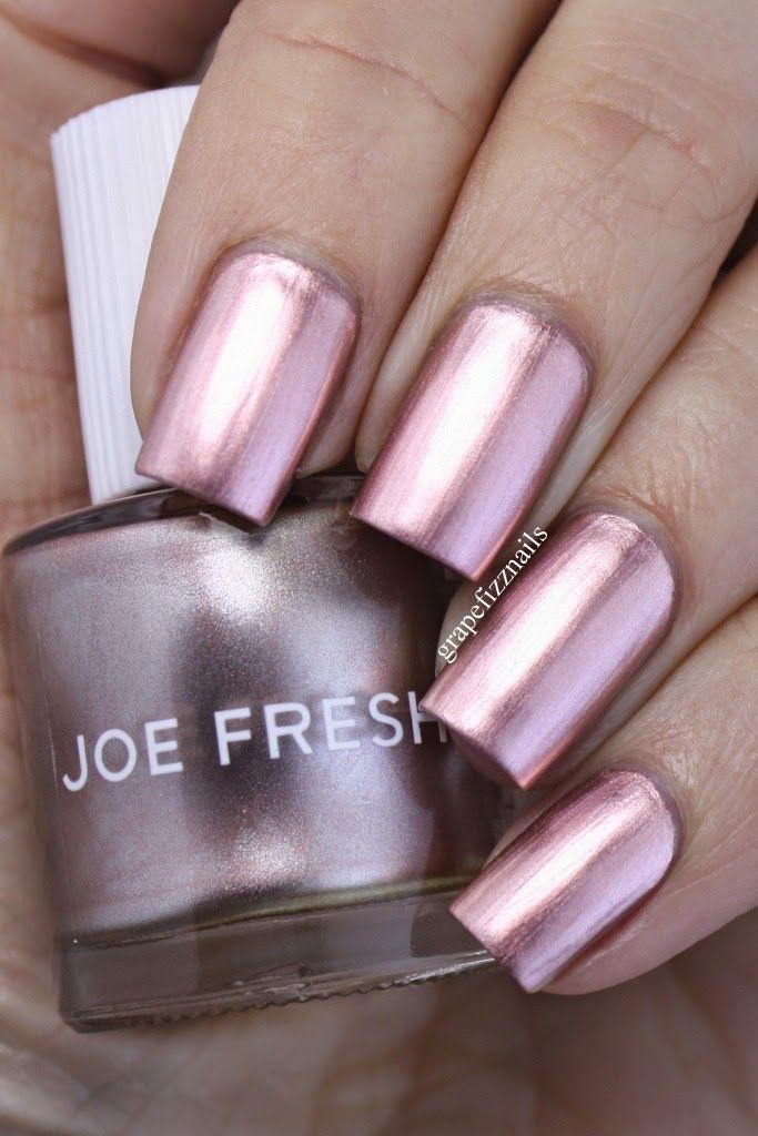 grape fizz nails: joe fresh