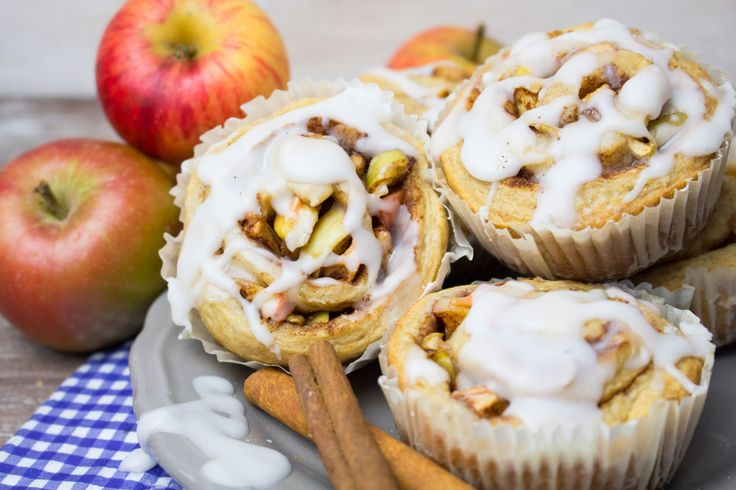 These easy vegan cinnamon rolls with apples and spelt flour come together in less than an hour. They're the perfect treat for fall days!