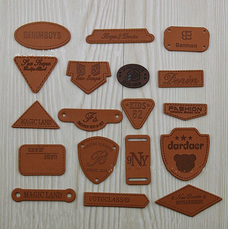 WellieSTR Fashion 18 Stlye PU Leather Garment Labels Tag Shoes Bag Clothes Sewing Patches Zakka DIY Craft * More info could be found at the image url.