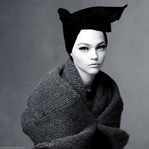 """abigaildonaldson:""""Shape Shift"""" Sasha Pivovarova by Steven Meisel for Vogue Italia October 2014"""