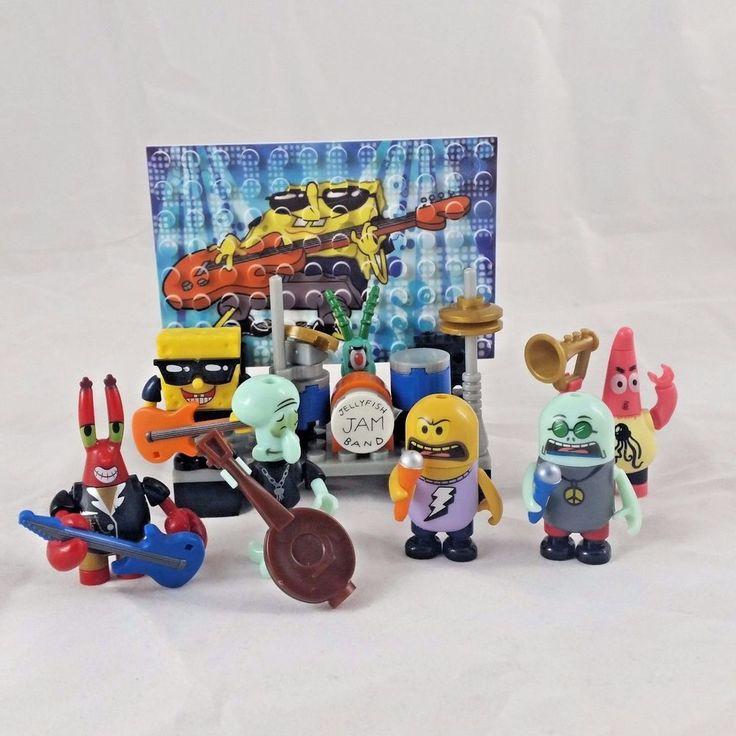 Spongebob Squarepants Jellyfish Jam megablox figures set