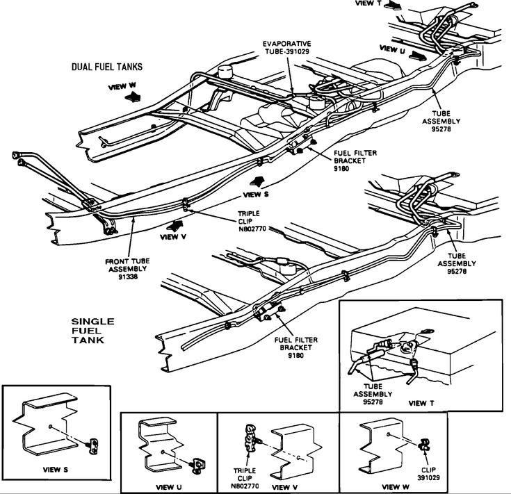 1990 chevrolet fuel tank wiring