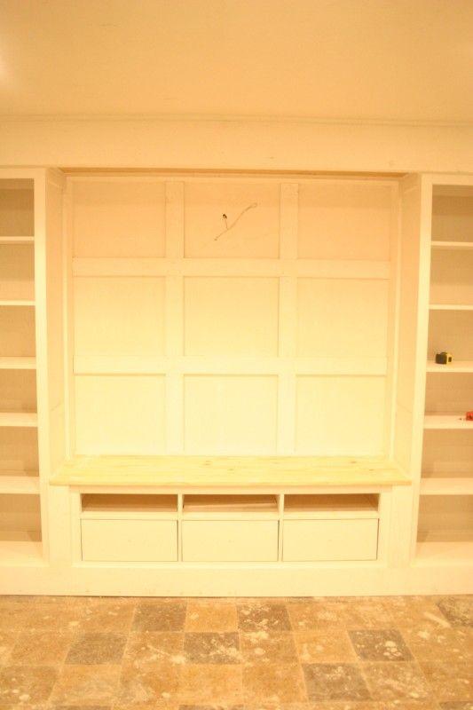 IKEA Hackers: Hemnes pieces to Built In Media Wall