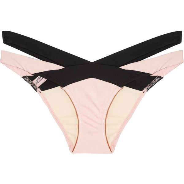 Agent Provocateur Mazzy cutout bikini briefs (715 RON) ❤ liked on Polyvore featuring swimwear, bikinis, lingerie, swim, swimsuit, pink, cut out swimsuit, cut out bikini bottom, swimsuits tops and swim suit tops
