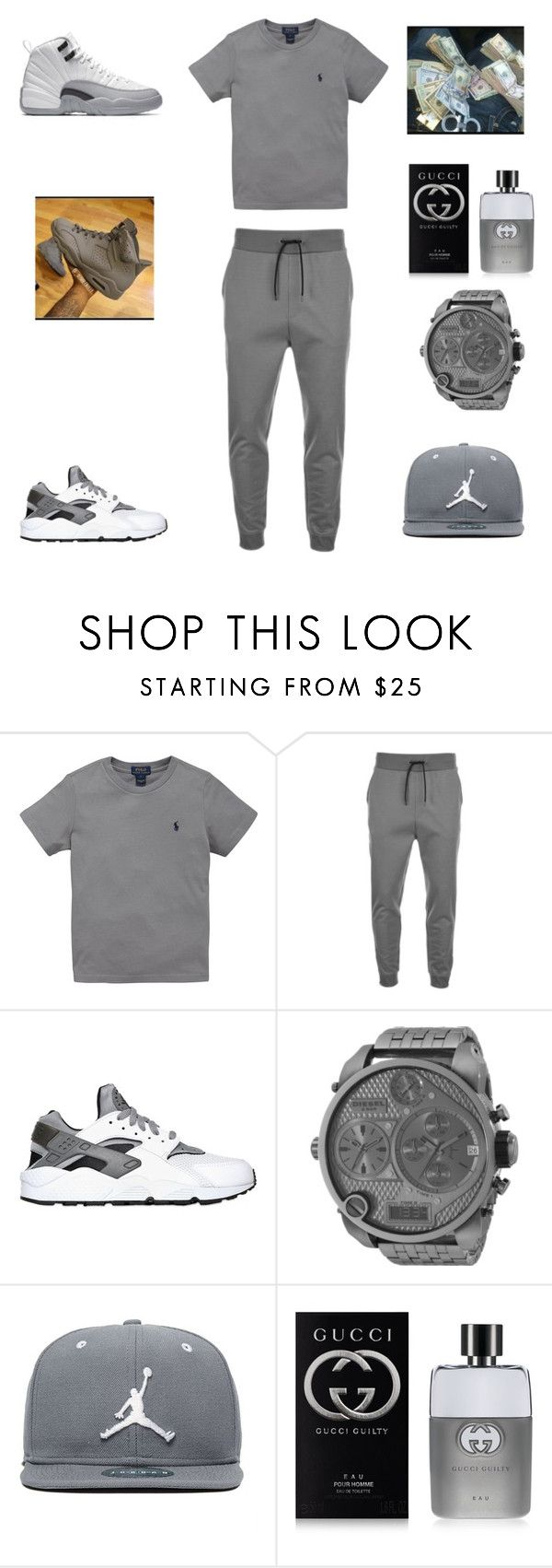 """"" by aleisharodriguez ❤ liked on Polyvore featuring Ralph Lauren, HUGO, NIKE, Diesel, Jordan Brand, Gucci, men's fashion and menswear"