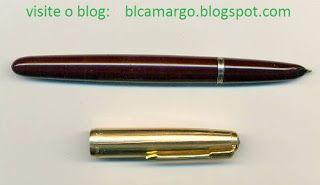 """ANOS DOURADOS: IMAGENS & FATOS: IMAGENS - Velharia: """"Parker 51"""" Nos anos 50 usar uma caneta-tinteiro """"Parker 51"""" estava na moda e era o maior charme. Mas ela não era para qualquer um, não! Custava muito mais que as outras. Constituia-se em um """"objeto de desejo"""" pela sua beleza, maciez e tecnologia."""