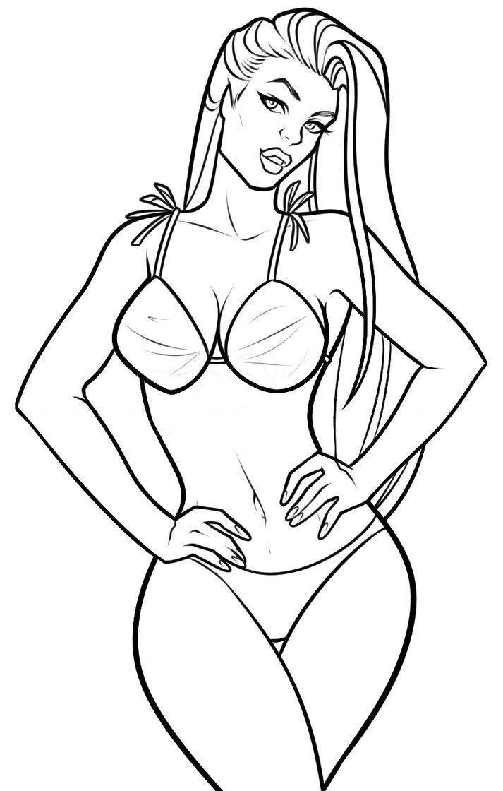Nude female figure drawing printable female back sketch