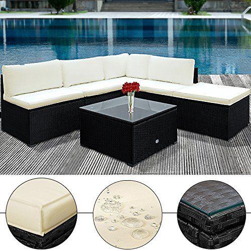 die besten 20+ black rattan garden furniture ideen auf pinterest,