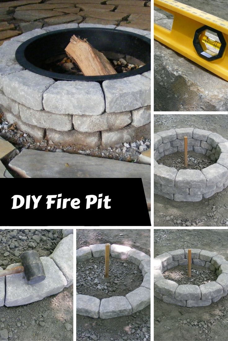 Fall is finally here time to make a fire pit this easy for Step by step fire pit