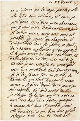 Letter addressed to the Duchesse de Polignac from Marie Antoinette 1790