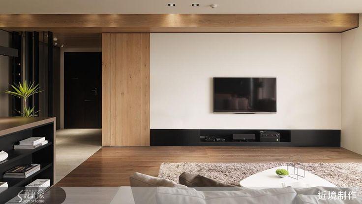 開闊空間,簡潔設計與素樸選材,把自然帶進家!-設計家 Searchome