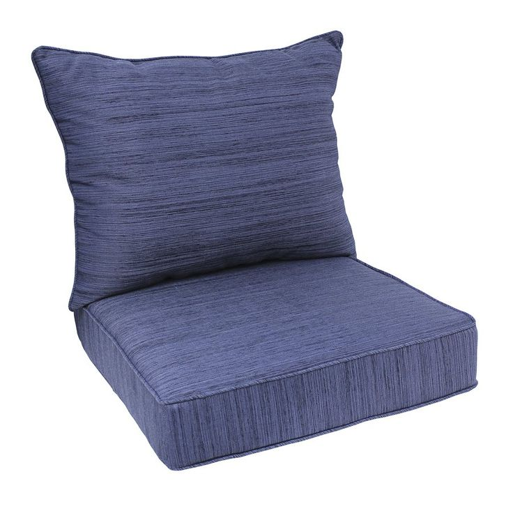 Shop allen + roth  2-Piece Navy Deep Seating Chair Cushion Set at Lowe's Canada. Find our selection of patio cushions at the lowest price guaranteed with price match + 10% off.