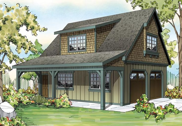 Elevation of Craftsman   Garage Plan 59479