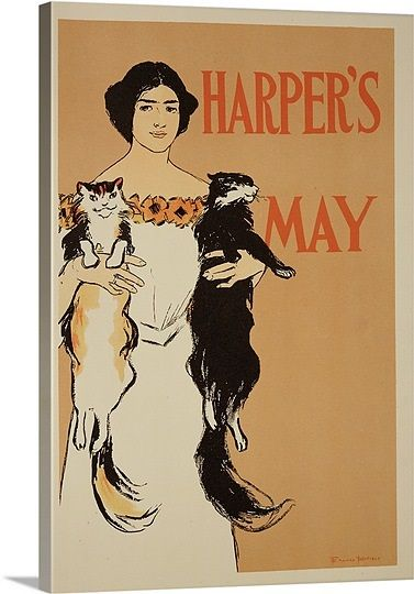 poster advertising the May Issue of 'Harper's Magazine', 1897