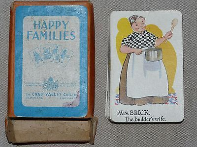 Rare Vintage Happy Families Card Game by Chad Valley - 1950s