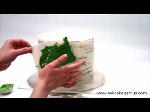 How to Make a Birch Pattern cake. Super realistic and easy!