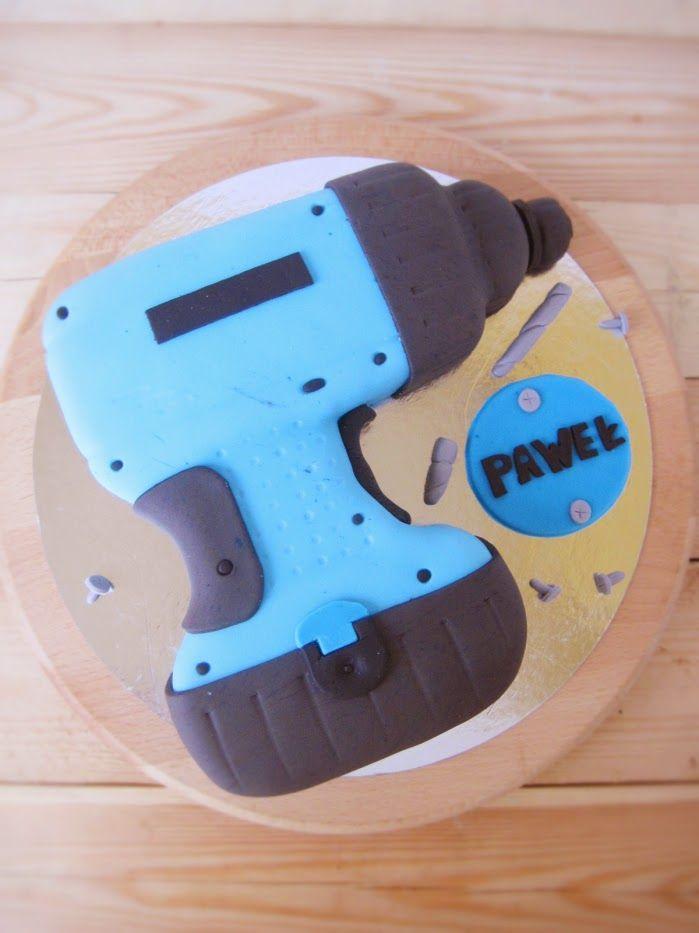 Tort urodzinowy: Niebieska Wiertarka