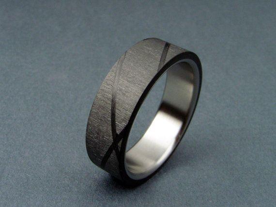 Carbon fiber helix pattern & titanium