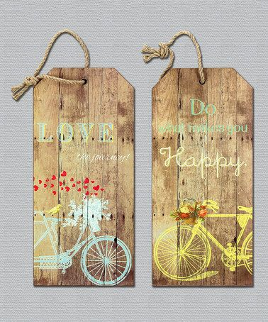 Love this Wood Wall Sign - Set of Two on #zulily! #zulilyfinds