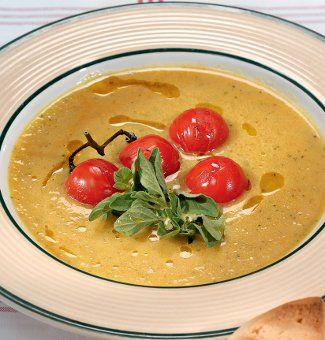 Бархатный суп из цукини